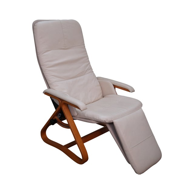 Nepsco Inc Leather Bent Wood Recliner For Sale