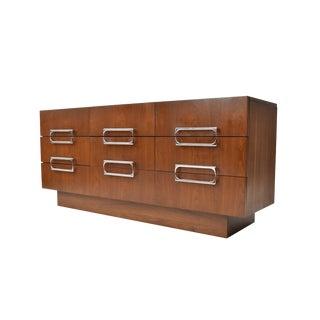 Mid-Century Modern Milo Baughman Style Triple Dresser For Sale