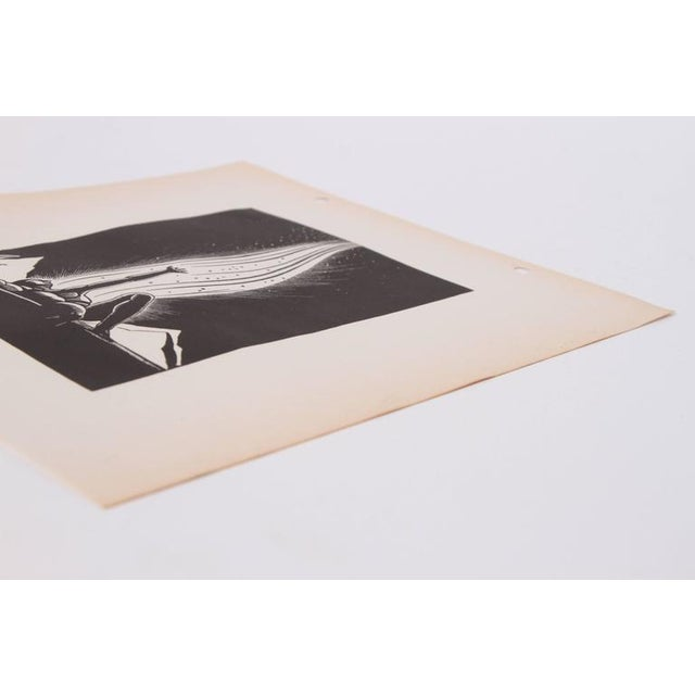 "1930s Art Deco 1939 Rockwell Kent ""Flame"" Original Block Print Calendar For Sale - Image 5 of 11"