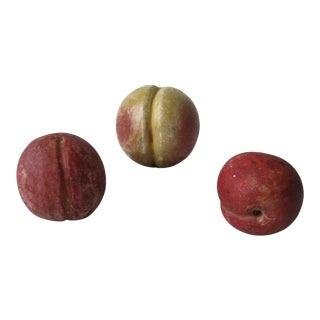 Italian Marble Fruit Pieces - Set of 3