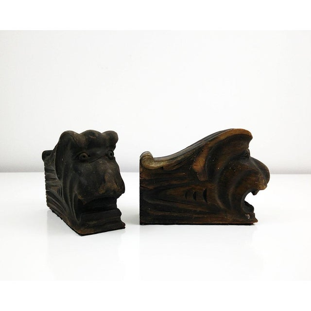 Vintage Architectural Wood Corbel Bookends - a Pair - Image 4 of 6