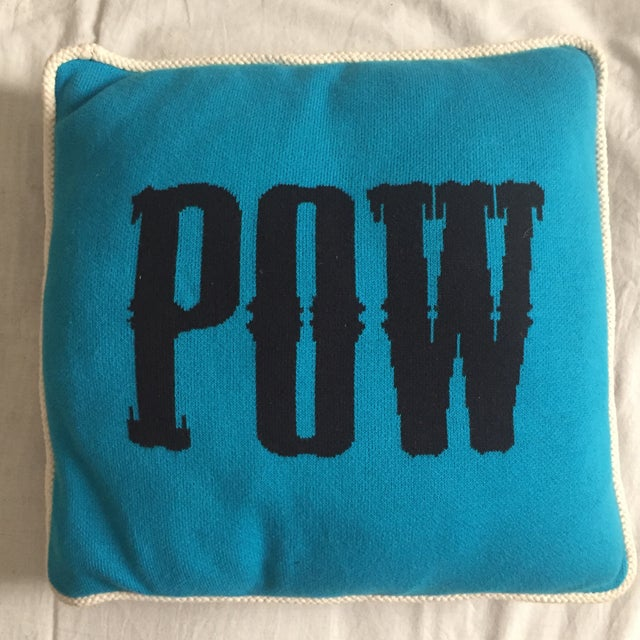 Contemporary Contemporary Turquoise & Black Pillows - a Pair For Sale - Image 3 of 6