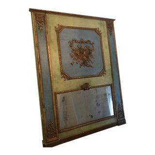 Old French Trumeau Mirror For Sale