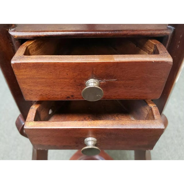 Late 19th Century 1880 English Victorian Queen Anne Style Mahogany Wash Stand For Sale - Image 5 of 9