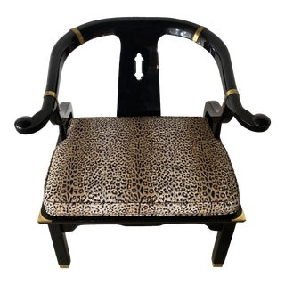 Vintage Ming Black Lacquer Chair For Sale