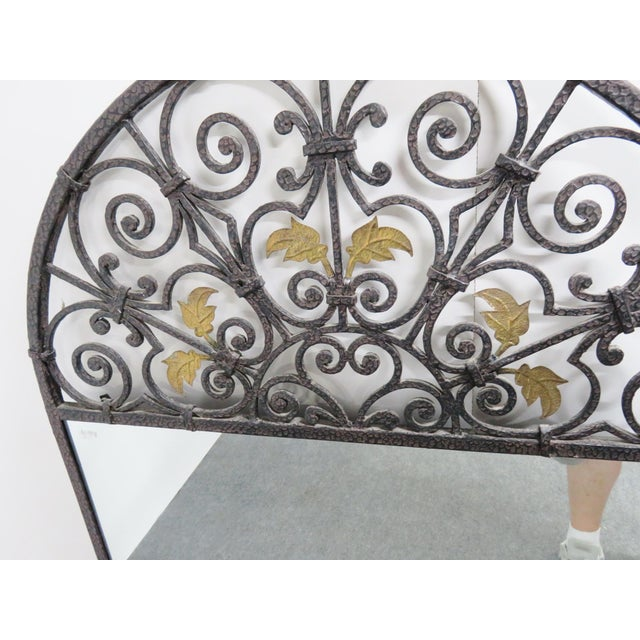 Mid 20th Century Casa Bique Hand Hammered Iron & Brass Mirror For Sale - Image 5 of 6