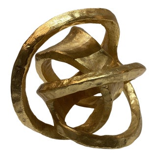 Brutalist Style Abstract Metal Knot For Sale