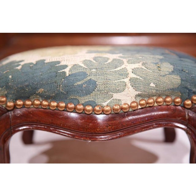 Mid-19th Century French Louis XV Carved Walnut Footstool For Sale In Dallas - Image 6 of 7