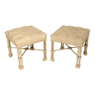 George II Style Painted Benches- A Pair For Sale