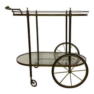 Vintage Brass Beverage Cart For Sale