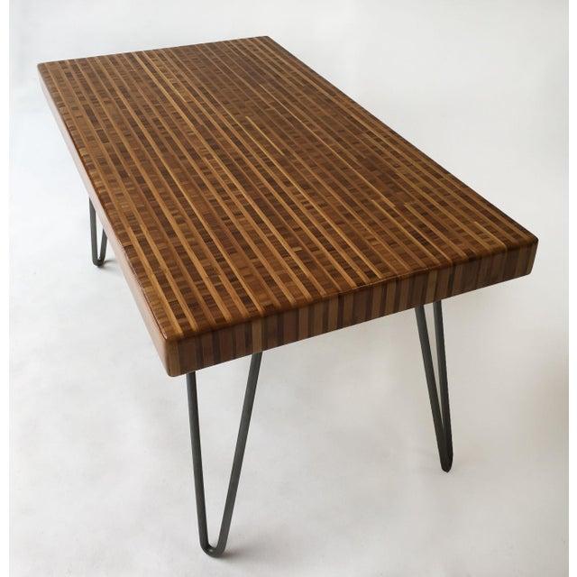 Modern Bamboo Coffee Table: Modern Bamboo Slab Coffee Table