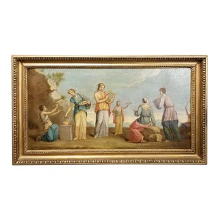 Early 19th Century Musical Nymphs Painting For Sale