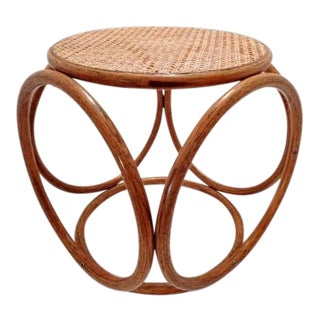 Thonet Bentwood Ottoman Foot Stool Side Table For Sale