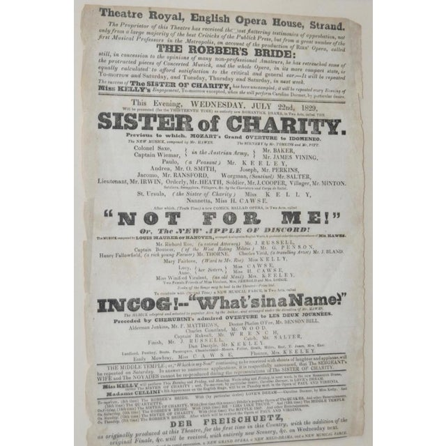 "Illustration Theatre Royal, English Opera House, Strand ""Sisters of Charity"" Flyer c.1920s For Sale - Image 3 of 8"