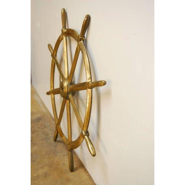 England Victorian Navy HMS Solid Brass Ships Wheel, circa 1910 - Image 4 of 8