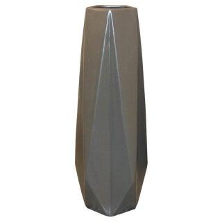 Modern Gray Ceramic Vase For Sale