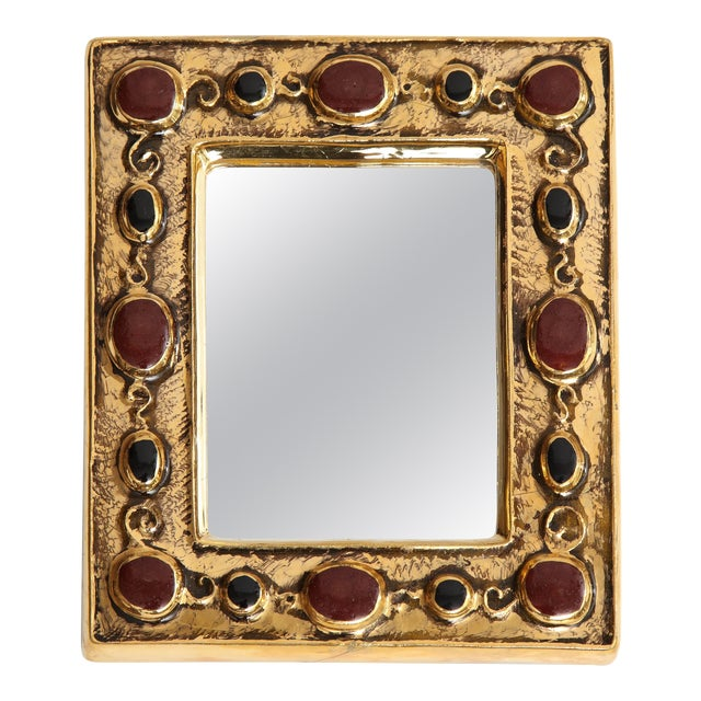 Jeweled François Lembo Mirror For Sale