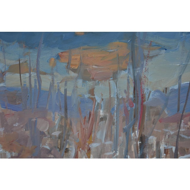 """Stephen Remick """"Vermont Memory"""" Contemporary Abstract Landscape Acrylic Painting by Stephen Remick, Framed For Sale - Image 4 of 9"""