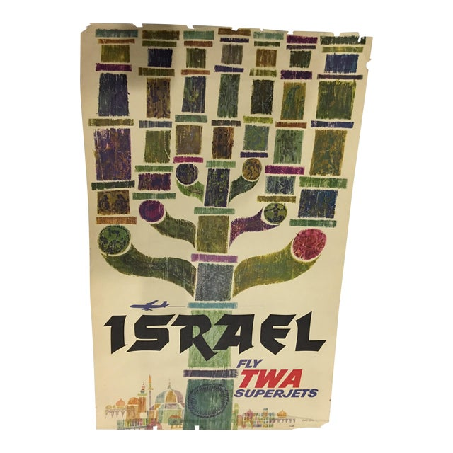 1960 David Klein 'TWA Israel' Poster For Sale