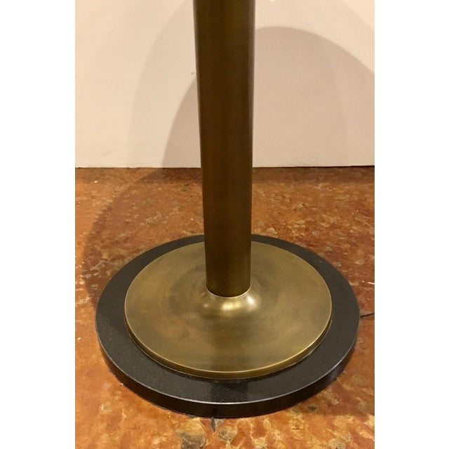 Contemporary Currey and Co. Modern Black Marble and Antique Brass Side Table For Sale - Image 3 of 5