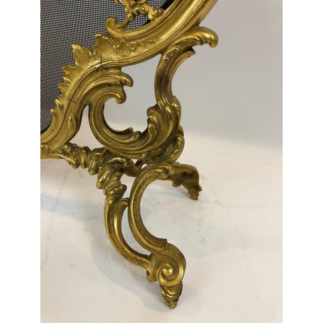 Bronze Dore Fireplace Screen With Putti, 1950s For Sale - Image 4 of 11