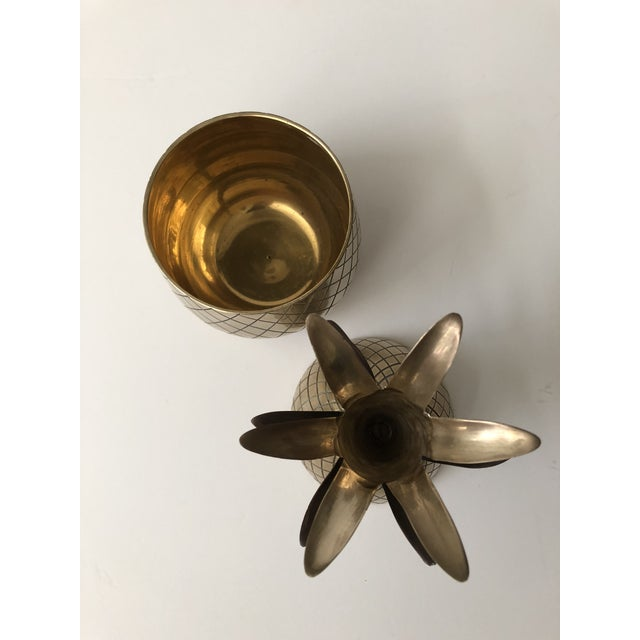 Gold Vintage Brass Pineapple For Sale - Image 8 of 9