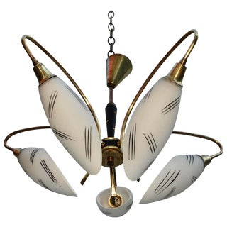 1950s French Midcentury Chandelier For Sale