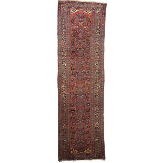 Antique Authentic Persian Malayer Runner Rug - 3'x 11'