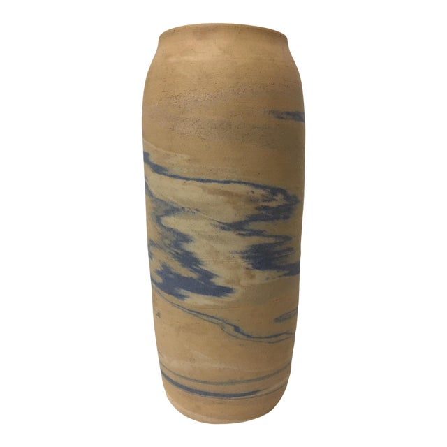 Antique Early 20th Century Niloak Pottery Mission Swirl Vase For Sale