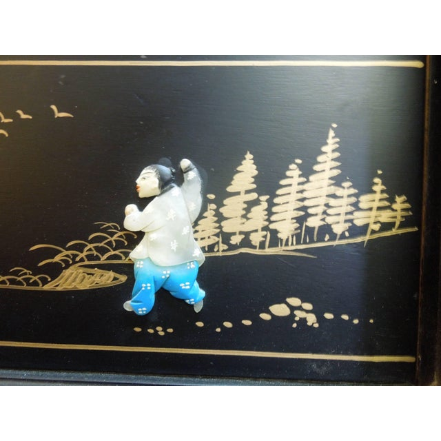 Very Chic 20th Century Chinoiserie Pagoda Glass Front Cabinet For Sale - Image 9 of 10