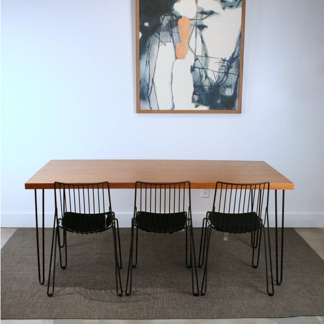 Teak Hairpin Dining Table - Image 4 of 5