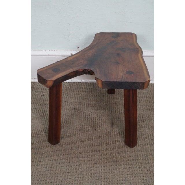 Vintage Walnut Free Form Slab Side Table - Image 3 of 10