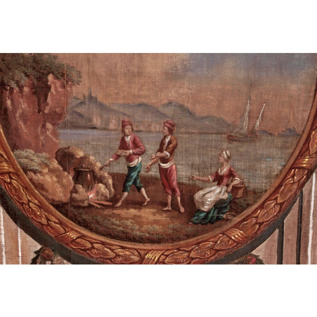 A Set of Five Large Hand-Painted Trompe l'Oeil Wall Panels - Image 5 of 11