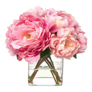Diane James Faux Pink Peony Bouquet For Sale