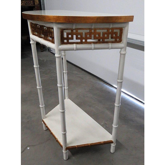 Asian Modern Design Demilune Console Table For Sale In Philadelphia - Image 6 of 9