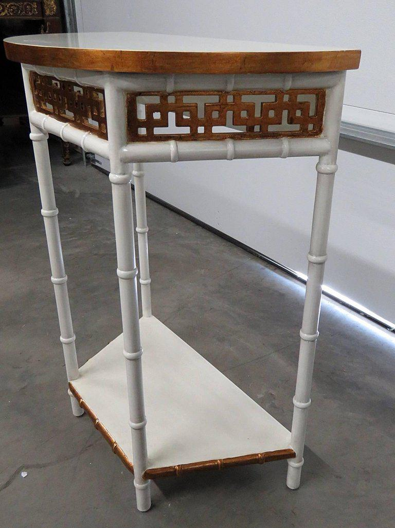 Asian Modern Design Demilune Console Table   Image 6 Of 9