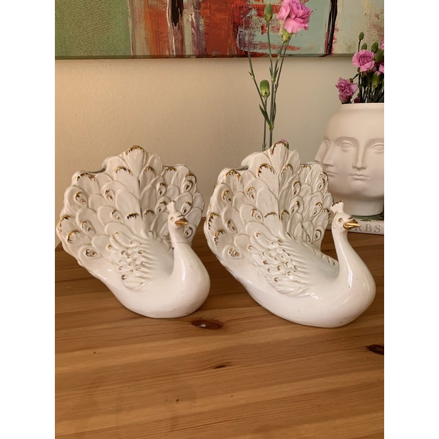 Italian White Porcelain Swan Vases - a Pair For Sale In Los Angeles - Image 6 of 10