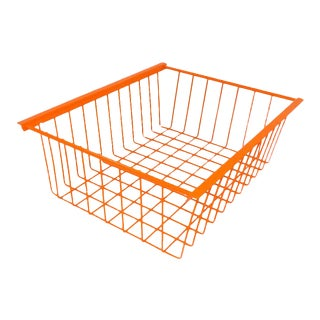 Orange Mid-Century Modern Wire Basket