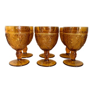 Set of Six Mid-Century Drinking Glasses For Sale