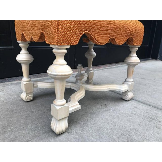 1980s Pair of Hollywood Regency Cerused Benches For Sale - Image 5 of 5
