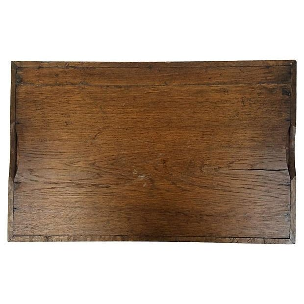 English Hand-Carved Tray - Image 3 of 3