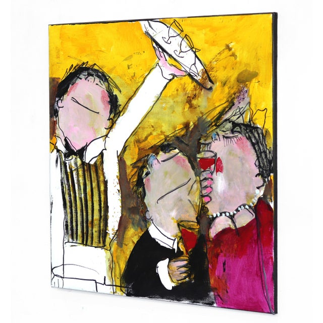 """Original Figurative Abstract Artwork by Gerdine Duijsens """"The Waiter"""" For Sale In Los Angeles - Image 6 of 9"""