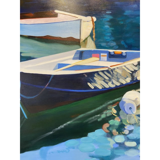 Contemporary Nautical Oil Painting by Andrea Guay For Sale In Boston - Image 6 of 7