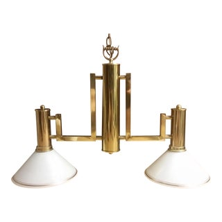 Brass Billiards Table Hanging Lights For Sale
