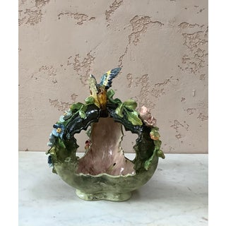 1880 Majolica Bird & Flowers Basket Centerpiece Preview