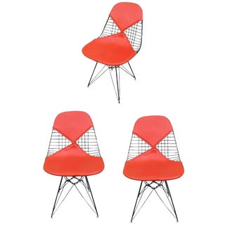 "Herman Miller Eames DKR ""Bikini"" Chairs- Set of 3 For Sale"