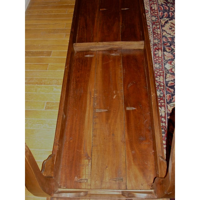 Handcrafted Antique Plank Top Sofa/Console Table - Image 7 of 10