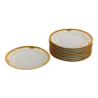 "1931 Noritake ""Rosalie"" Appetizer Dessert Plates- Set of 10 For Sale"