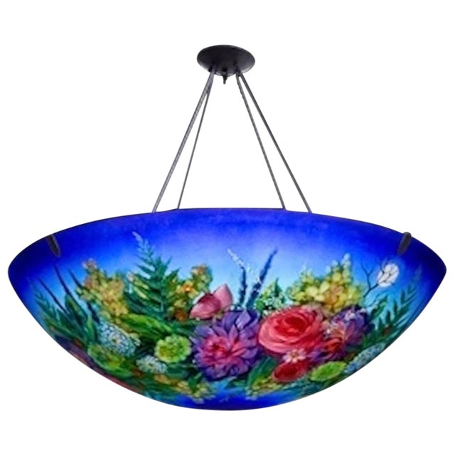 Lovely ulla darni floral blue chandelier decaso ulla darni floral blue chandelier image aloadofball Image collections