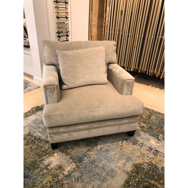 Linen Velvet Gramercy Chair For Sale - Image 10 of 10